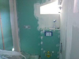 placo-plâtre salle de bain